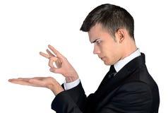 Biznesowego mężczyzna kopnięcie coś Zdjęcia Stock