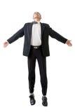Biznesowego mężczyzna latanie obrazy stock