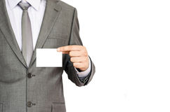 Biznesowego mężczyzna mienia wizytówka obraz stock
