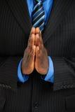 biznesowego mężczyzna modlenie Zdjęcia Royalty Free