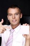biznesowego mężczyzna notatki Obrazy Royalty Free