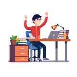 Biznesowego mężczyzna odświętność pracuje osiągnięcie ilustracji