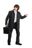 biznesowego mężczyzna okulary przeciwsłoneczne młodzi obraz royalty free