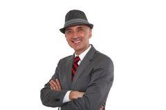 Biznesowego mężczyzna ono uśmiecha się fotografia stock