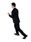 Biznesowego mężczyzna pchnięcie coś Zdjęcia Stock