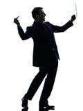 Biznesowego mężczyzna pióra stylus cyfrowa pastylka   sylwetka Zdjęcia Royalty Free