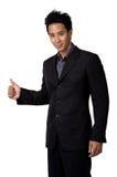Biznesowego mężczyzna postawa odizolowywająca Obrazy Stock