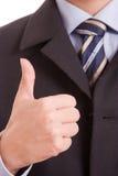 biznesowego mężczyzna seans kciuk biznesowy Obraz Stock