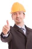 biznesowego mężczyzna seans kciuk biznesowy Zdjęcia Royalty Free