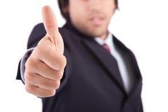 biznesowego mężczyzna seans kciuk biznesowy Fotografia Royalty Free