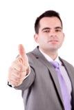 biznesowego mężczyzna seans kciuk biznesowy Obrazy Royalty Free