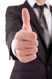 biznesowego mężczyzna seans kciuk biznesowy Obrazy Stock
