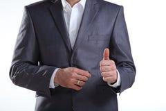 biznesowego mężczyzna seans kciuk biznesowy Zdjęcie Stock