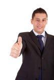 biznesowego mężczyzna seans kciuk biznesowy Obraz Royalty Free