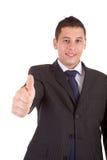 biznesowego mężczyzna seans kciuk biznesowy Zdjęcia Stock