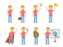 Biznesowego mężczyzna set ilustracja wektor
