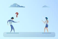 Biznesowego mężczyzna stora Forded spacer Na bizneswomanu głosu kierunku poparcia pojęciu ilustracja wektor