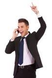 biznesowego mężczyzna telefonu wygranie fotografia stock
