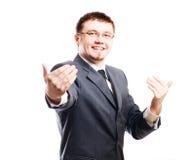 biznesowego mężczyzna uśmiechnięci potomstwa obraz stock