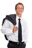 biznesowego mężczyzna uśmiechnięty pracowniany kostium Obraz Stock