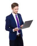 Biznesowego mężczyzna use laptop Obrazy Stock