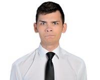 Biznesowego mężczyzna wątpliwości twarz Zdjęcie Royalty Free