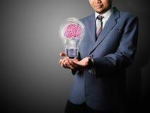 Biznesowego mężczyzna wp8lywy pomysł biznes Fotografia Stock
