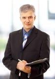 biznesowego mężczyzna writing Fotografia Stock