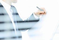 Biznesowego mężczyzna writing Obraz Stock