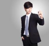 Biznesowego mężczyzna writing z markiera piórem Fotografia Stock