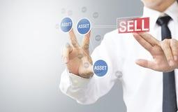 Biznesowego mężczyzna wybiórki bubla wartość zdjęcie stock