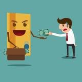 Biznesowego mężczyzna wynagrodzenia pieniądze kredytowa karta Długu pojęcie Fotografia Royalty Free