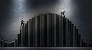 Biznesowego mężczyzna wyzwanie Zdjęcie Stock