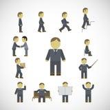 Biznesowego mężczyzna aktywność ikony ustawiać Obraz Stock
