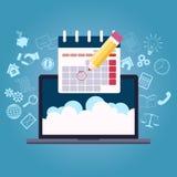 Biznesowego planowania kalendarz ilustracja wektor