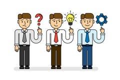 Biznesowego planowania pojęcia set ilustracji
