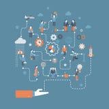 Biznesowego początku infographics płaski pojęcie ilustracja wektor