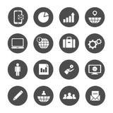 Biznesowego pojęcia inwestorscy ludzie przetwarzają globalnego wykres ikony set royalty ilustracja