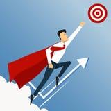 biznesowego pojęcia odosobniony sukcesu biel Meta Super lider ilustracja wektor