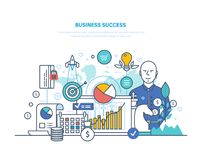 biznesowego pojęcia odosobniony sukcesu biel Osiągnięcie duży zysk, wysocy cele, pieniężna pomyślność ilustracja wektor
