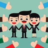 biznesowego pojęcia pomyślna drużyna Udziały aprobat ręki i Zdjęcia Royalty Free