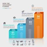 Biznesowego pojęcia infographic szablon Zdjęcie Stock
