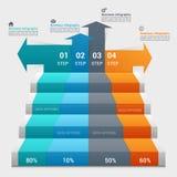 Biznesowego pojęcia infographic szablon Zdjęcie Royalty Free