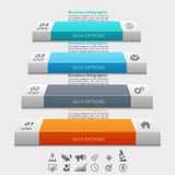 Biznesowego pojęcia infographic szablon Fotografia Stock