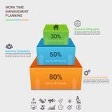 Biznesowego pojęcia infographic szablon Zdjęcia Royalty Free