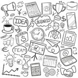 Biznesowego pomysłu Doodle Tradycyjne ikony Kreślą Ręcznie Robiony projekta wektor royalty ilustracja
