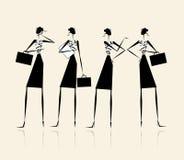 biznesowego projekta damy silhouette twój Zdjęcia Stock