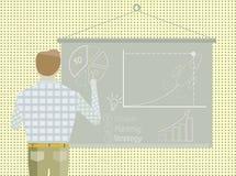 Biznesowego projekta strategii Początkowy biznesmen royalty ilustracja