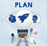 Biznesowego przedsiębiorcy celu strategii pojęcie Obraz Stock