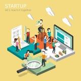 Biznesowego rozpoczęcia pojęcie ilustracji